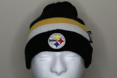 0534276ff65 NFL Pittsburgh Steelers Beanie Winter Hat Boys 4-7 Team Apparel Reebok