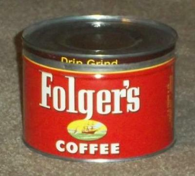 Vintage 1952 Folger's Mountain Grown 1 Pound Coffee Tin With Lid
