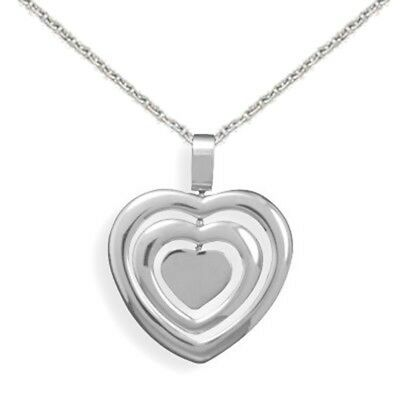Spinner Heart Pendant 316L Surgical Stainless Steel, with chain