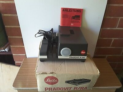 Vintage Leitz Pradovit 150 RC Slide Projector. Fully Functional instruction book