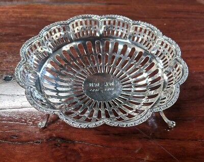 Synyer & Beddoes Sterling Silver Decorative Bowl With Tripod Feet