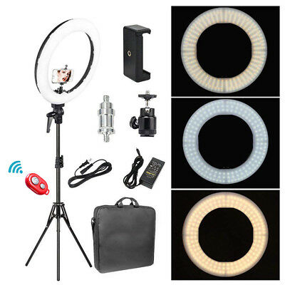18'' LED SMD Ring Light Kit With Stand Dimmable 6200K For Camera Makeup Phone US