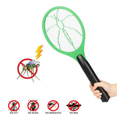 2x Electric Bug Zapper Racket Fly Swatter Mosquito Killer Insects Bat Handheld
