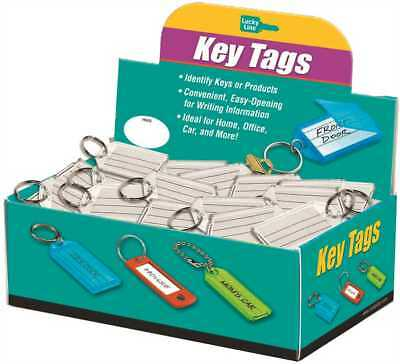 Lucky Line Products Key Tag with Split Ring Clear (100 per Box)