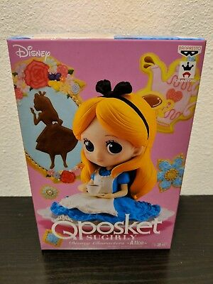 Disney Q Posket Characters Alice in Wonderland Sugarly Alice Figure Version A