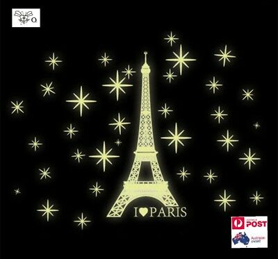 Glow In The Dark Eiffel Tower Removable Wall Stickers Decal