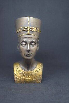 "4""Ancient Egyptian Queen Nefertiti MINI Bust Statue Figurine Egypt Decoration"