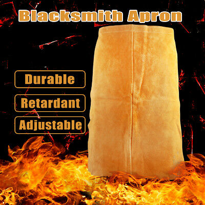 Welder Apron Welding Protective Gear Apparel Cowhide Leather Blacksmith