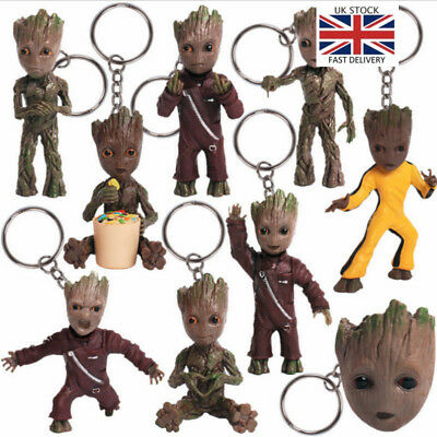 Baby Groot Key Chain Guardians of the Galaxy Keyring Figure Pendant Toys Gifts