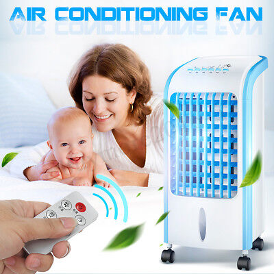 5L Evaporative Air Cooler Portable Tower Fan Humidifier Conditioner Swing 60W