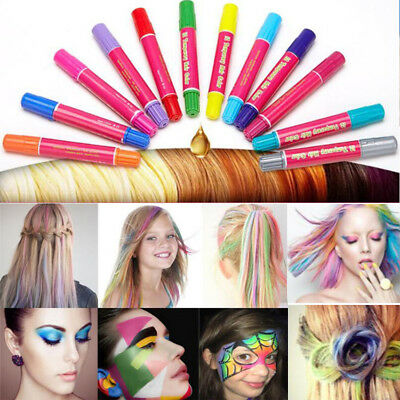 12PCS/SET Temporary Disposable Salon Use Dye Comb Crayons For Hair Color Chalk