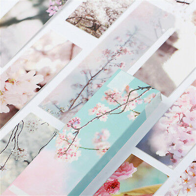 Hot 30Pc Beautiful Sakura Bookmarks for Books School Supplies Accessories Supply