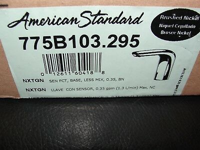 American Standard Commercial Touchless Selectron Bathroom Faucet Brushed Nickel