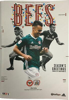 PRE-OWNED Brentford Vs Barnsley 2017/18 Championship Matchday Programme DS324
