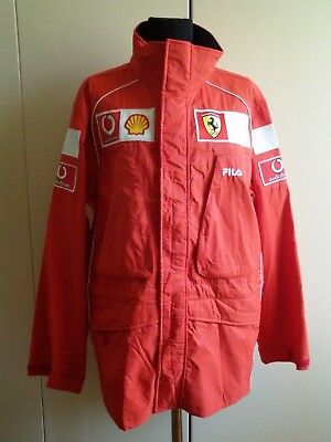 FERRARI SCUDERIA F1 TEAM GIACCA DA BOX TEAM JACKET by FILA 2002-2003 SIZE 50