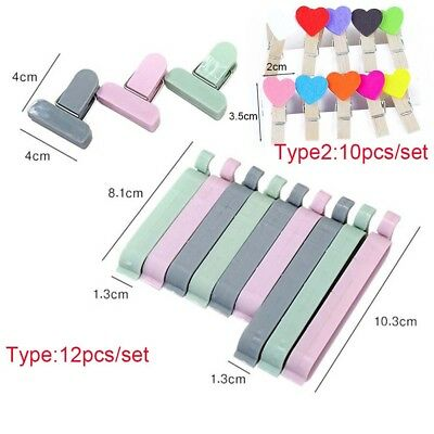 Candy Color Plastic Kitchen Tool Snack Bag Sealer Sealing Clamp Food Clips