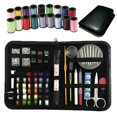 136pcs/Set Sewing Kit Scissors Needle Thread for Home Stitching Hand Sewing Tool