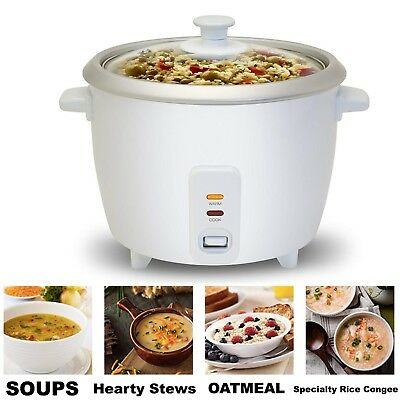 Automatic Rice Cooker Electric Keep Warm Cook Soups Stews Grains Hot Cereals