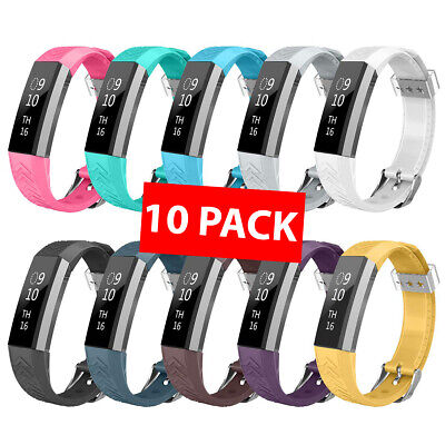 10 PACK Fitbit Alta HR Replacement Band Wristband Wrist Strap Soft Silicone