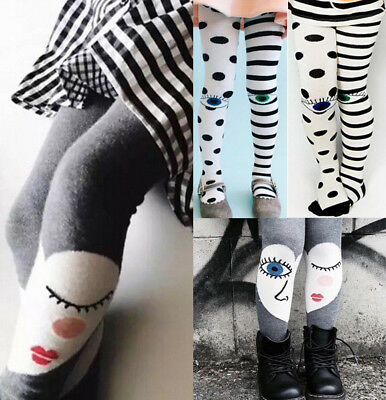 7ccd1e6e71bdfe US Toddler Baby Winter Warm Cute Long Stockings Girls Kids Cotton Tights  Socks