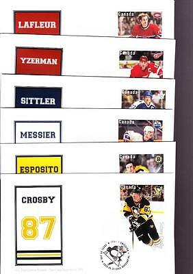 Canada limited edition FDC 2016 sc#2948-53 NHL Forwards, set of 6 s/s covers