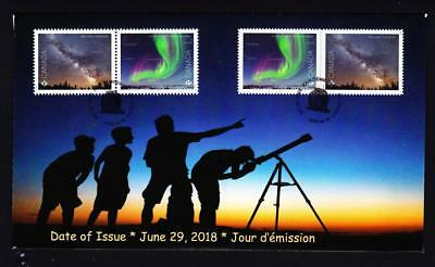 Canada 2018 limited edition FDC Astronomy, booklet/souvenir sheet pairs