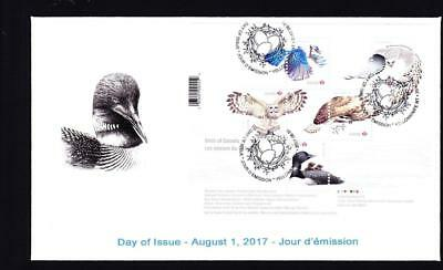 Canada limited edition FDC 2017 sc#3017 Birds of Canada, s/s cover