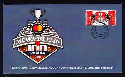 Canada 2018 limited edition FDC Memorial Cup 100th Anniversary, booklet single