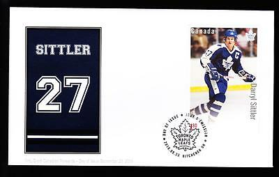 Canada limited edition FDC 2016 sc#2953 NHL Forwards-Sittler, $1.80 s/s