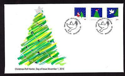 Canada limited edition FDC 2016 sc#2956-2958 Christmas, booklet combo