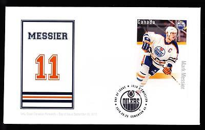 Canada limited edition FDC 2016 sc#2952 NHL Forwards-Messier, $1.80 s/s