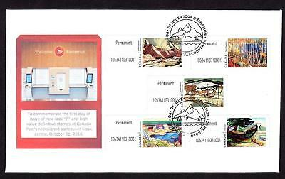 Canada limited edition FDC 2016 Kiosk Canadian Artists P booklet combination