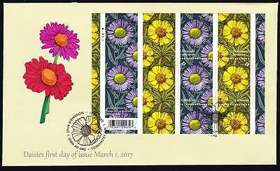 Canada limited edition FDC 2017 sc#2976 Daisies s/s