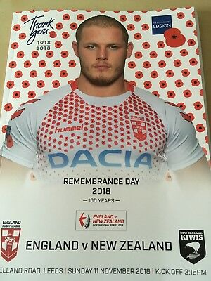 England RL V New Zealand Third Test Programme And Teamsheet