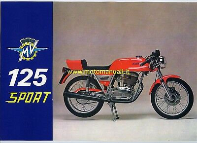 MV AGUSTA 125 Sport 1975 depliant originale genuine motorcycle brochure