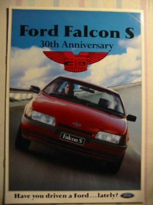 Ford Falcon S 30Th Ann Ea Booklet 9 1990 Brochure Excellent Condition