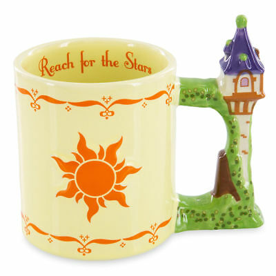 Disney Parks Tangled Rapunzel Tower Lantern Sculpted Ceramic Coffee Mug Cup NEW
