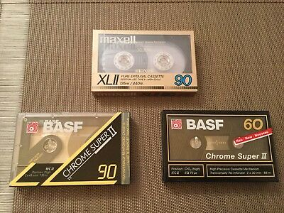 CASSETTE MAXELL XLII 90  / CHROME POSITION  / TAPE AUDIO NEUF Basf 90 Et 60