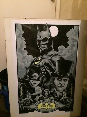 batman returms ltd edition signed and numbered print