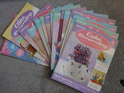 Deagostini 'Cake Decorating' magazine bundle, good condition