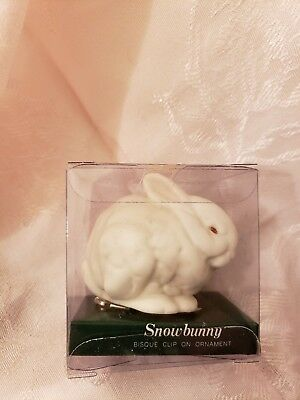 Department 56 Snowbunny Light-Up Clip-On Bisque Ornament