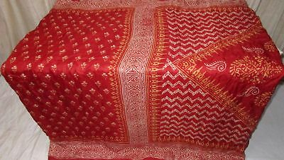 Rust Pure Silk 4 yd Vintage Antique Sari Saree all season Smart Choice NR #9EDTU