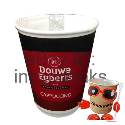 Douwe Egberts Cappuccino 2Go In Cup Drinks, 12oz Sealed [1 Sleeve of 10 Cups]