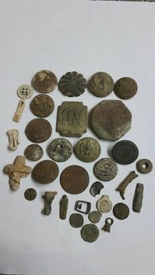 Random metal detecting finds job lot roman medieval tudor modern for research