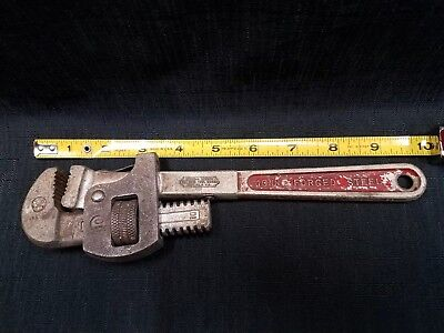 "Vintage 10"" Stillson Erie Tool Work Small Pipe Wrench Adjustable~Flex Head / USA"