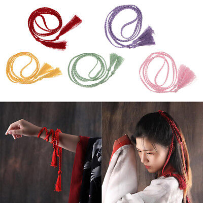 Women Girl Fringe Tassel Long Hair Band Rope Ring Ties Hair Accessories Gift