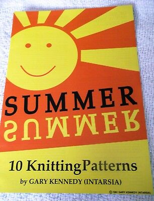KNITTING PATTERN BOOKLET 'SUMMER'  by GARY KENNEDY (10 patterns)