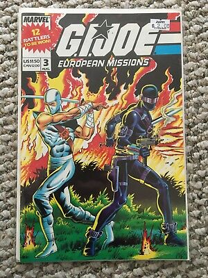 G.I. Joe European Missions #3 Comic Book Marvel 1988
