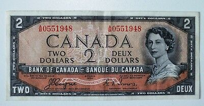 Canada 2 Dollar Devil's Face Banknote Coyne Towers