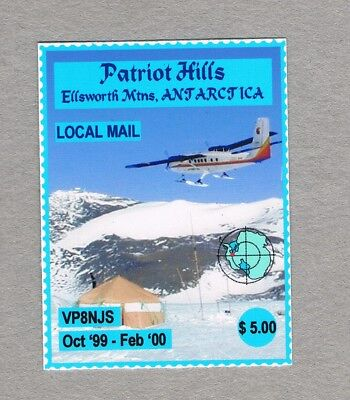 Antarctica -1999 - Patriot Hills Local Mail - 1 Mnh Unofficial Stamp
